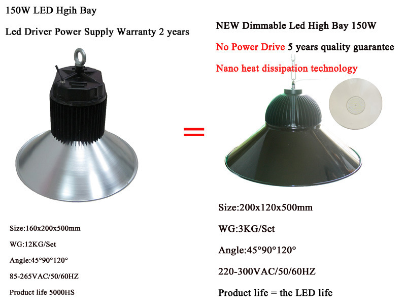 CE, SAA Certificate LED High Bay Light--Hns-150W