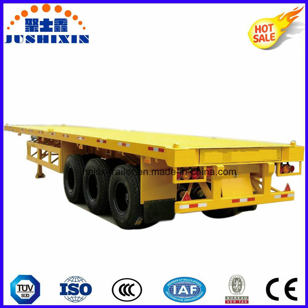 40 Feet 3 Axle Flatbed Container Semi Trailer
