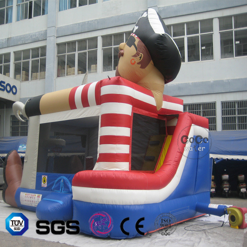 Coco Water Design Customized Inflatable Water Park Toy Pirate Jumping Bouncer for Kid Playing