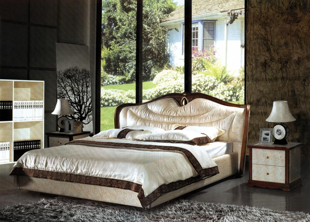 Luxury Bedroom, Leather Bed (8082)