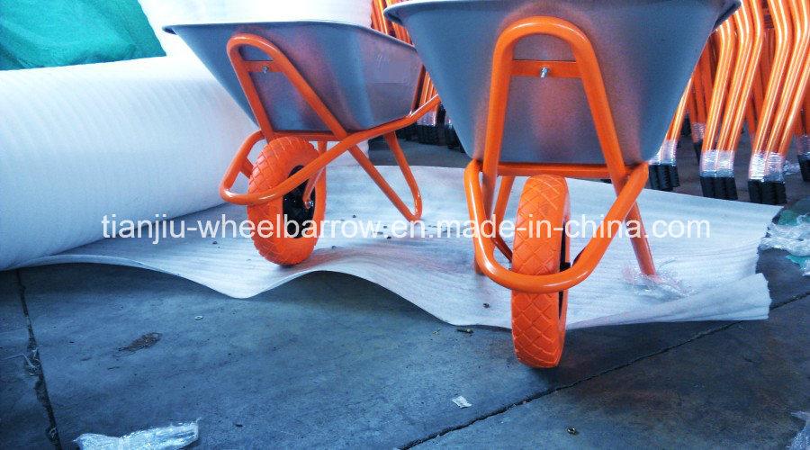 Wheelbarrow Wb6418 for Russia Market with PU Wheel