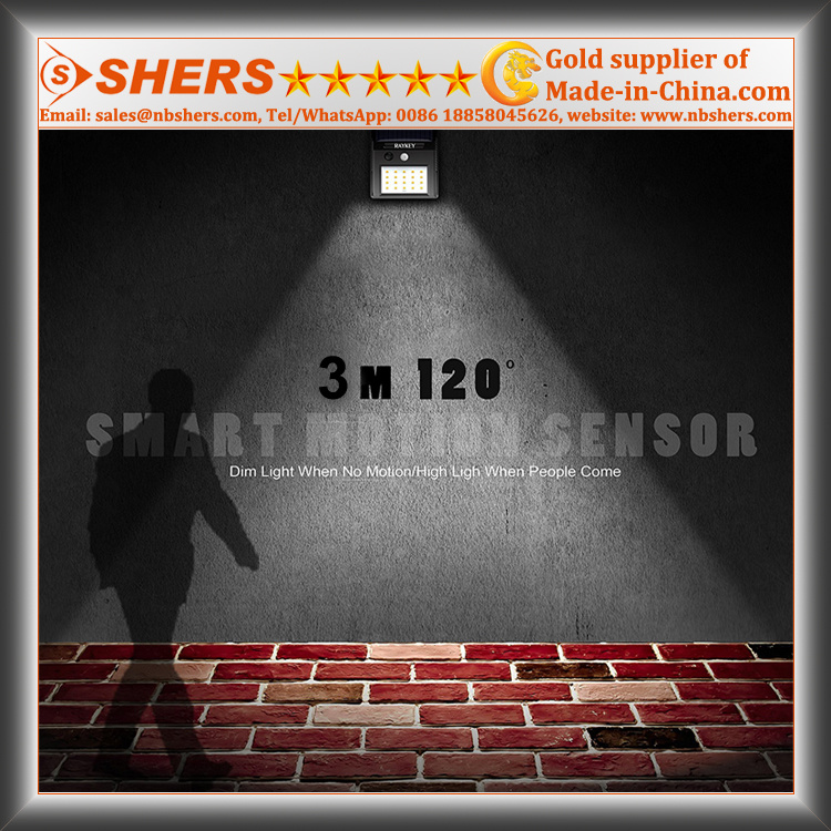 Solar Motion Wall Light with Adjustable Brightness, Dim Light (SH-2600C)