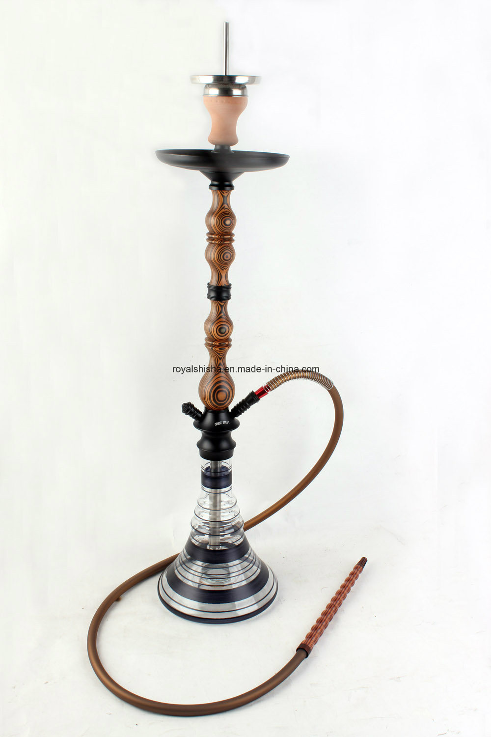 Wholesale Hookahs in China Royal Shisha New Batia Wood Stem Shisha