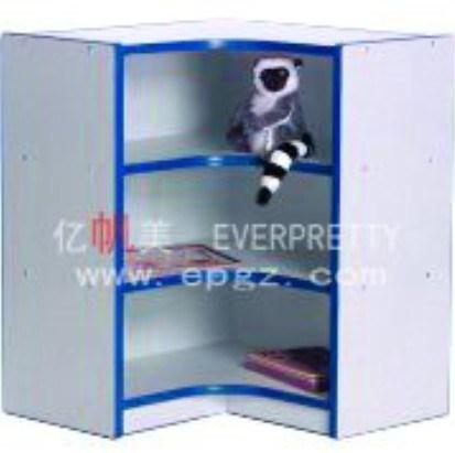 Wooden Kids Storage Bookshelf Cabinet with Wheels for Nursery School Furniture