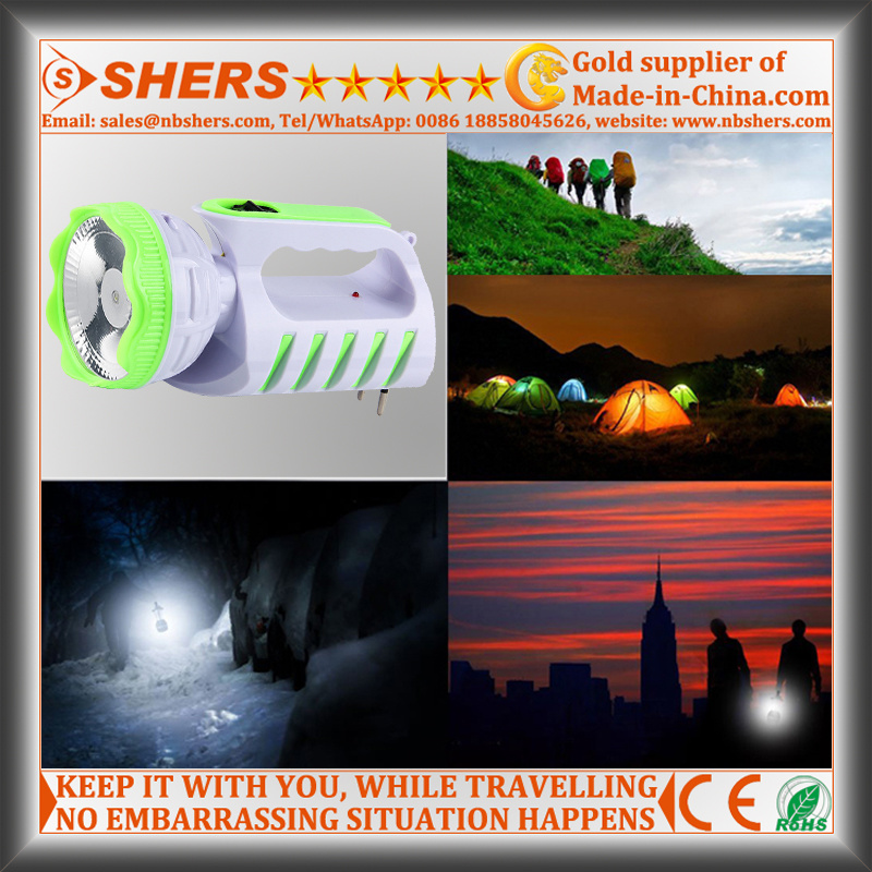 Rechargeable 1W Spot Light with LED Table Lamp (SH-1955A)