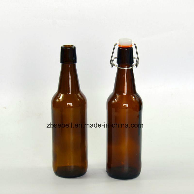 Hot Sale Glass Beer Bottle with Flip Cap