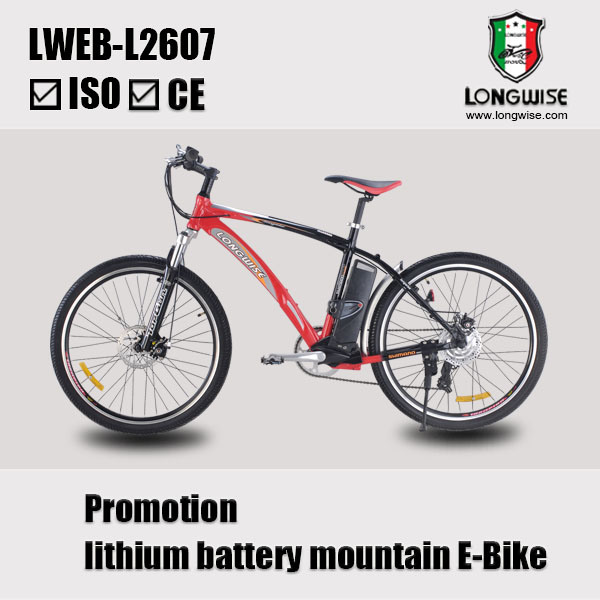 "26"" Lithuim Battery Mountain Electric Bicycle (LWEB-L2607)"