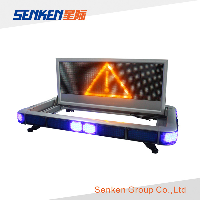 Words Edit Warning LED Light Bar and LED Screen Display