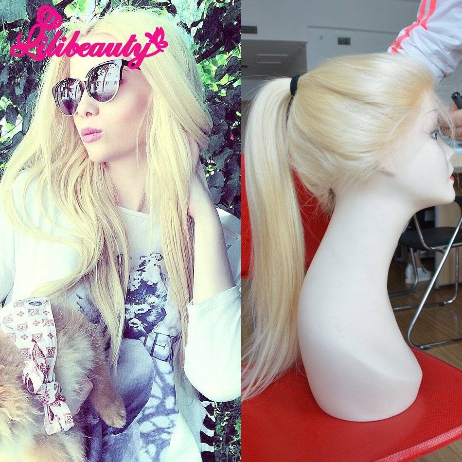 Fashion Virgin Brazilian Human Hair Wigs Full Lace Wig with Pre-Plucked Baby Hair