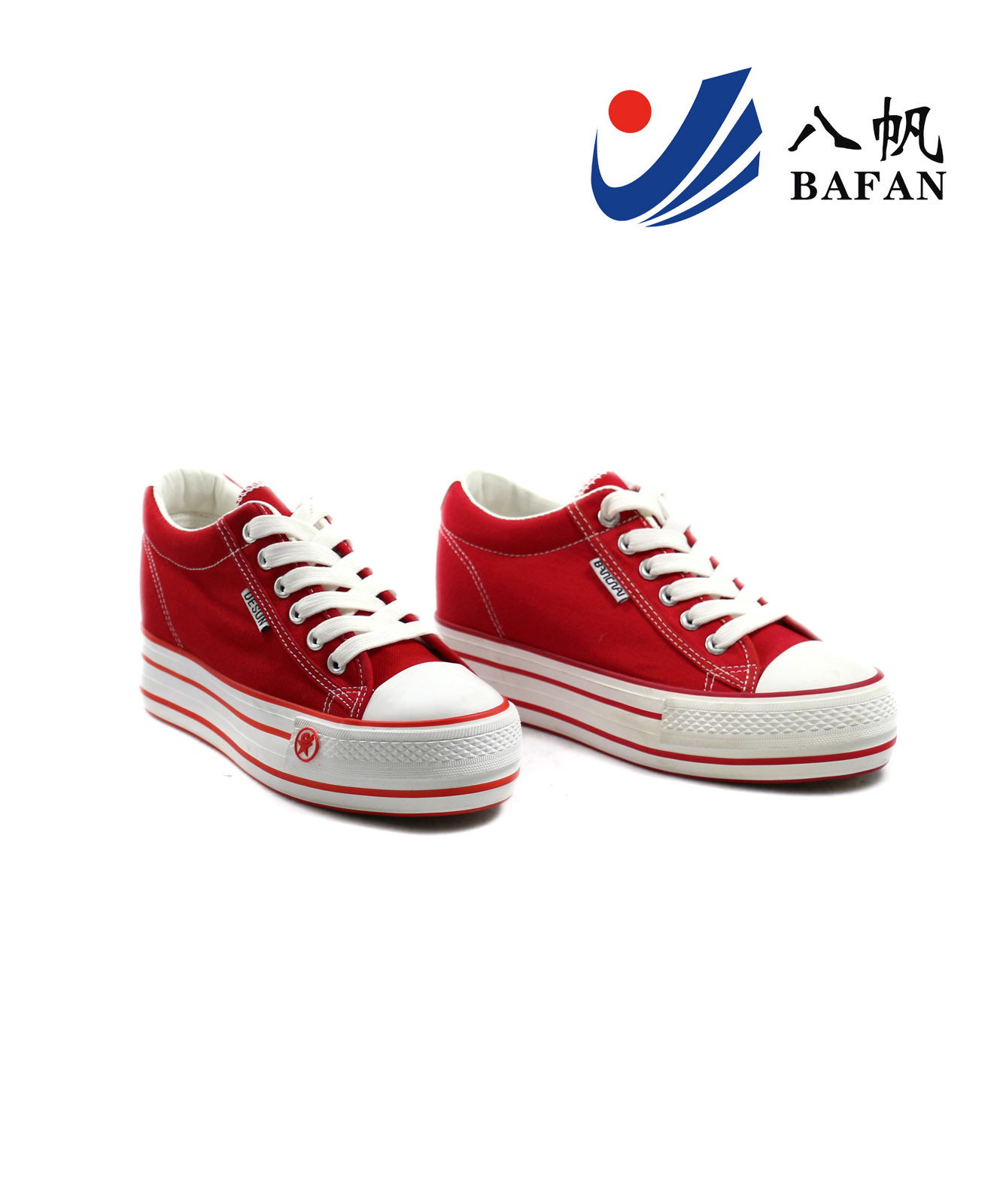 Red Women′s Fashion Canvas Shoes (BFM0315)