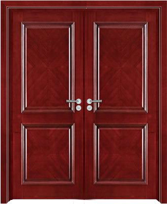 China wooden double door w9203 china wood door flush door for Double door wooden door
