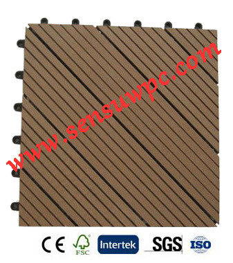 Sensu Cheap and High Quality WPC DIY Decking Tiles