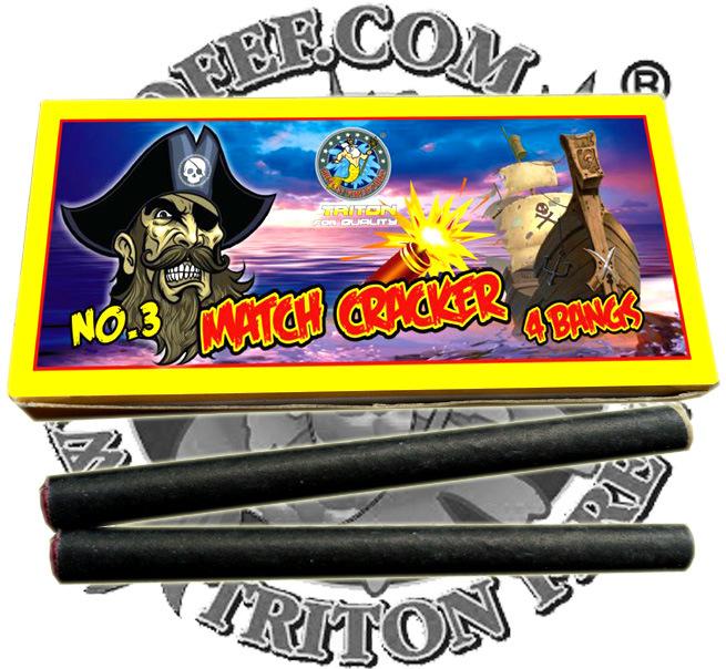 Black Spider Match Cracker with Fuse Fireworks