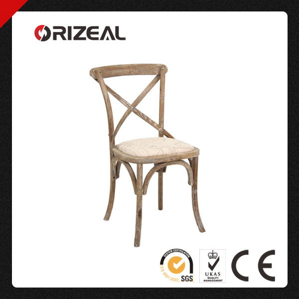 Brand New Cafe French Cross Back Dining Chair (OZ-SW-037)