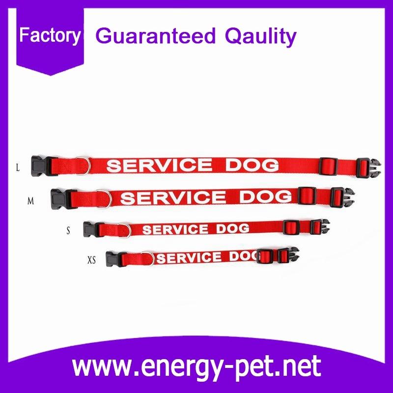 Custom Printed Logo Polyester Nylon Pet Collar