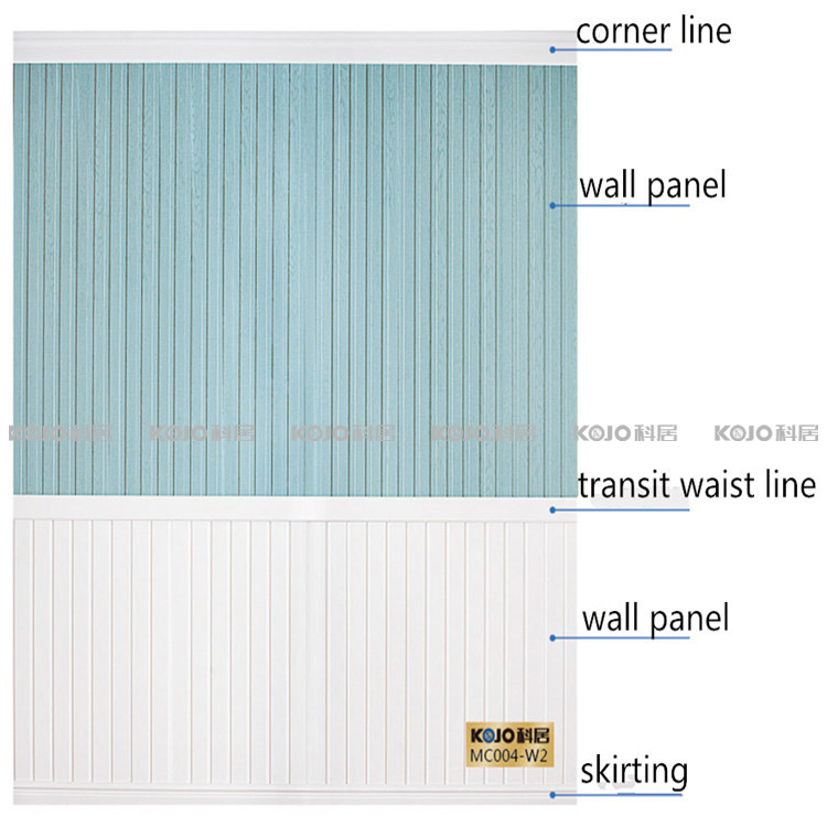 Building Material Waterproof Decorative Wood Plastic Composite Wall Panel (W2-P2)