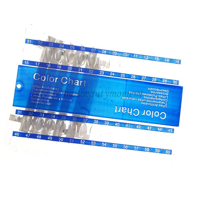 ABS Nail Art 60 Nails Display Color Chart (NT34)
