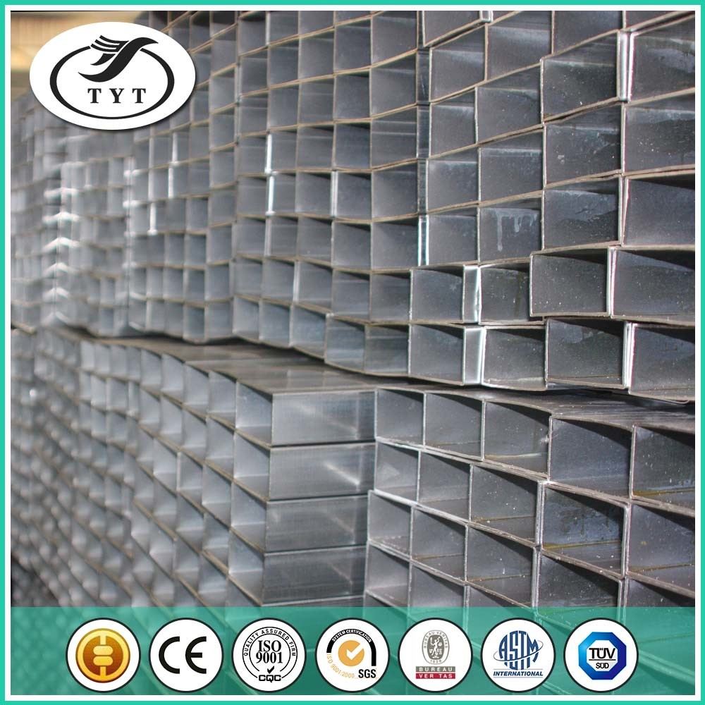 Different Sizes BS 1387 Galvanized Rectangular Welded Pipe