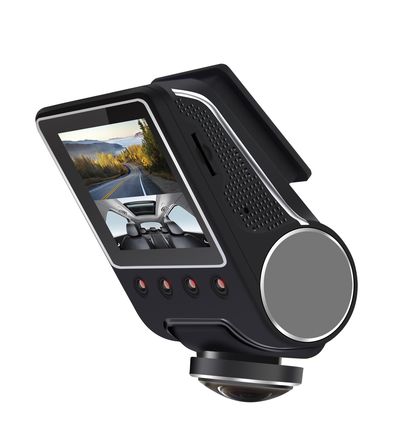 360 Degree Panoramic View Recorder Hidden HD 1080P Night Vision Wide-Angle Car DVR Camcorder with WiFi