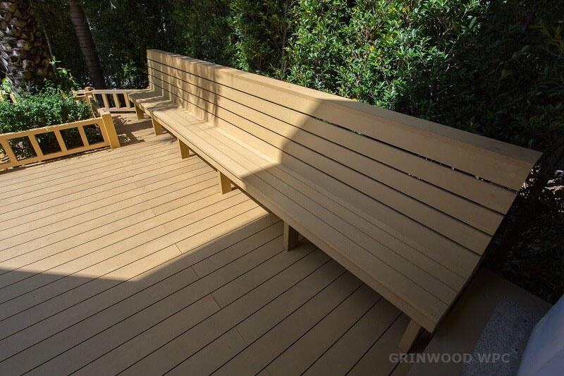 Natural Color WPC Deck Flooring Plastic Composite WPC