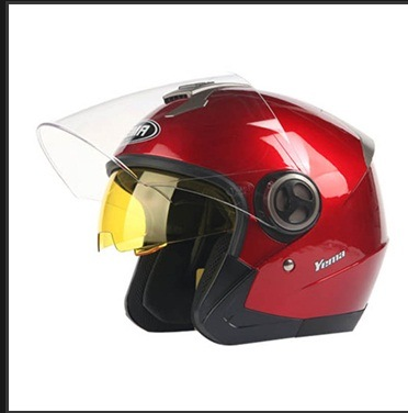 Motorcycle Open Face Helmets with Sunvisors