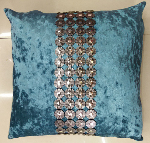 Hand-Made Decorative Cushion Hand-Sewing Diamond-Tape Pillow (XPL-29)