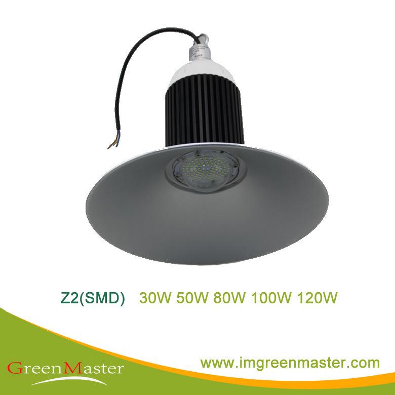 Z2 SMD 30W 50W 80W 100W 120W Factory Warehouse LED High Bay Light