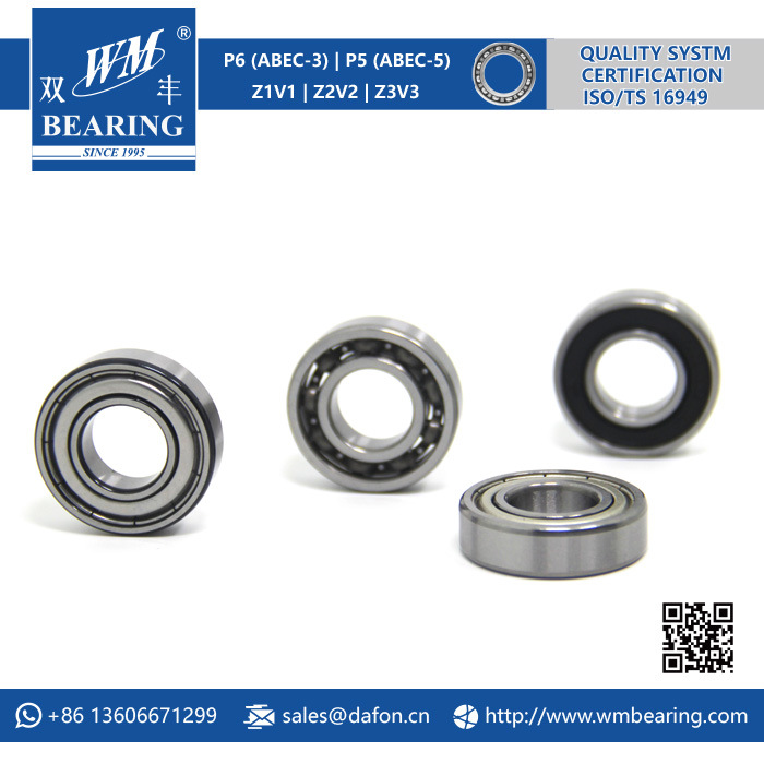 6002 Zz 2RS High Speed Spindle Radial Ball Bearing