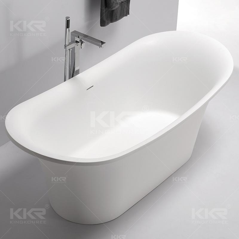 Freestanding Acrylic Solid Surface Bathroom Bath Tub