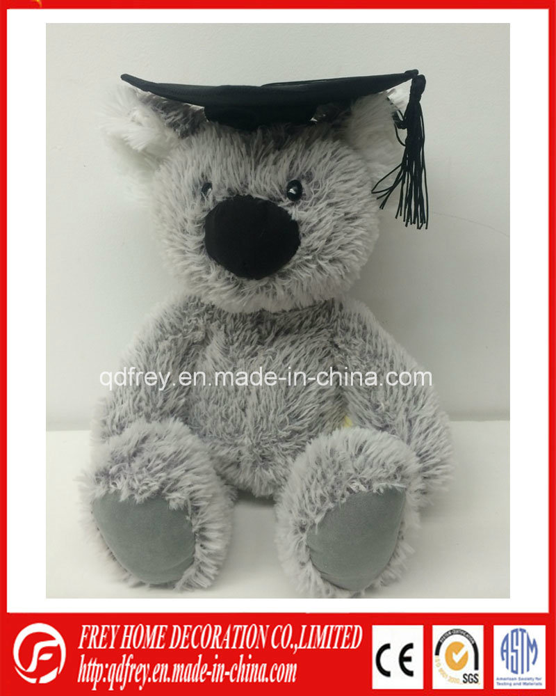 Plush Koala Toy with Graduation Robe, Doctor Hat