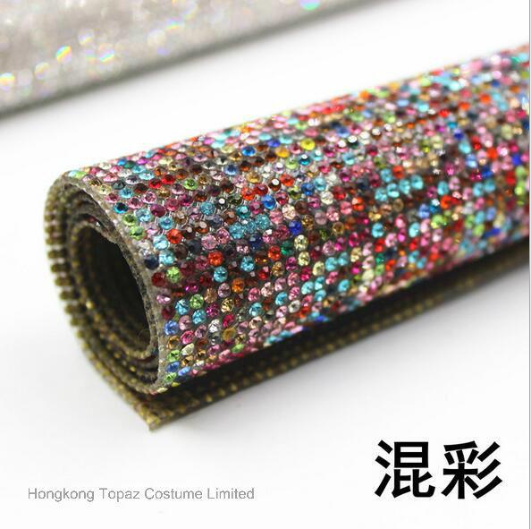 Hotfix Adhesive Rhinestone Sheets Hot Fix Crystal Rhinestone Mesh Trimming Roll (TM-ss6)