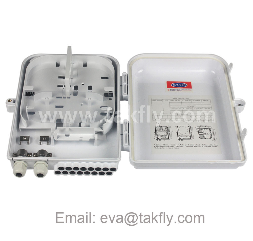 16 Core FTTH Junction Outdoor Fiber Optical Termination Box
