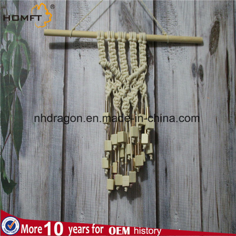 Wood Bead Macrame Wall Hanger