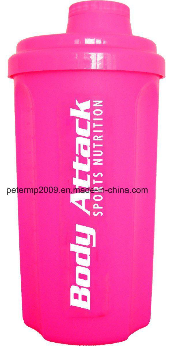 700ml Gym Shaker BPA Free Plastic Protein Shaker Bottle, PP Shaker Bottle