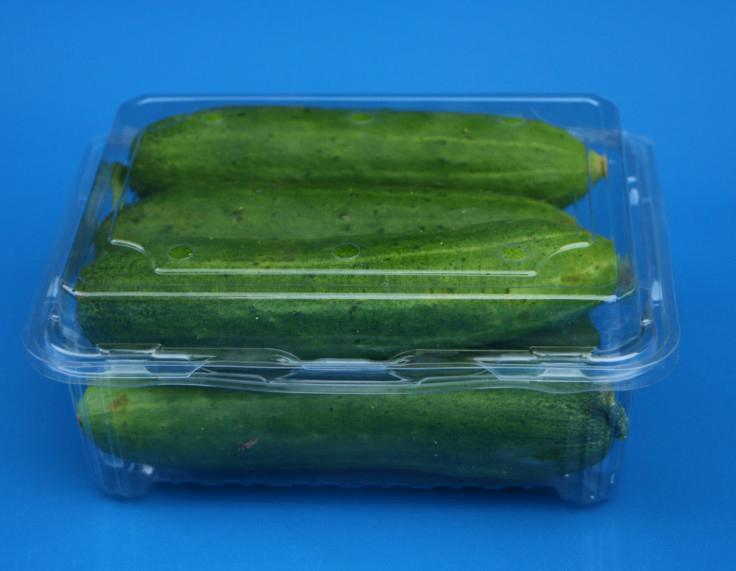 Clear Plastic Food Packaging Punnet Disposable Plastic Packaging Box for Vegetable