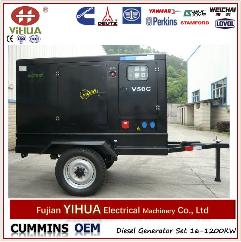 Mobile 50kVA Cummins Sielnt Power Generators