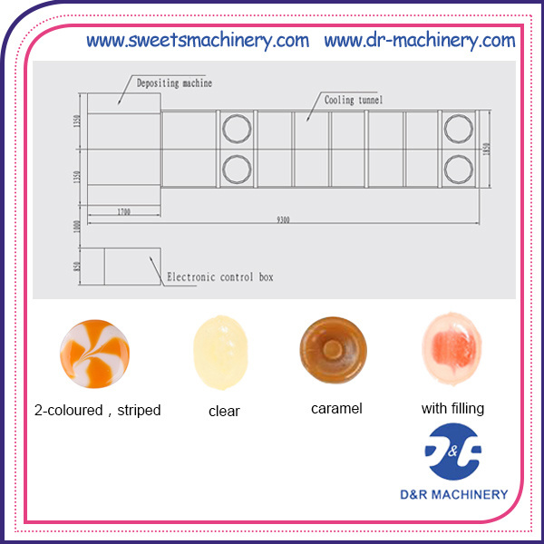 Depositing Complete Machine Line Hard Candy Making Machine