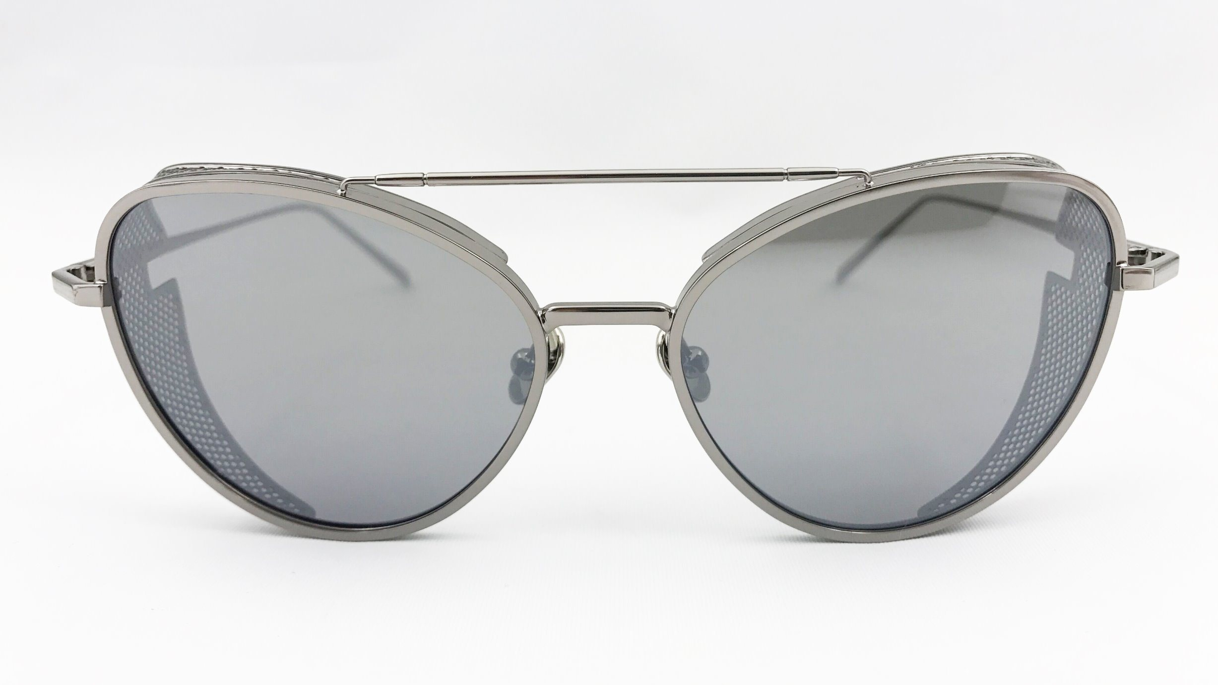 Special Design Metal Sunglasses with Nylon Lens and Tube Decor Eh1612