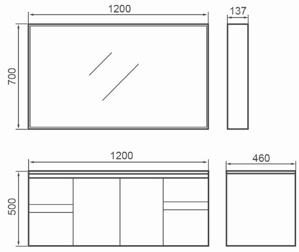 Modern MDF Bathroom Cabinet for Australia Market