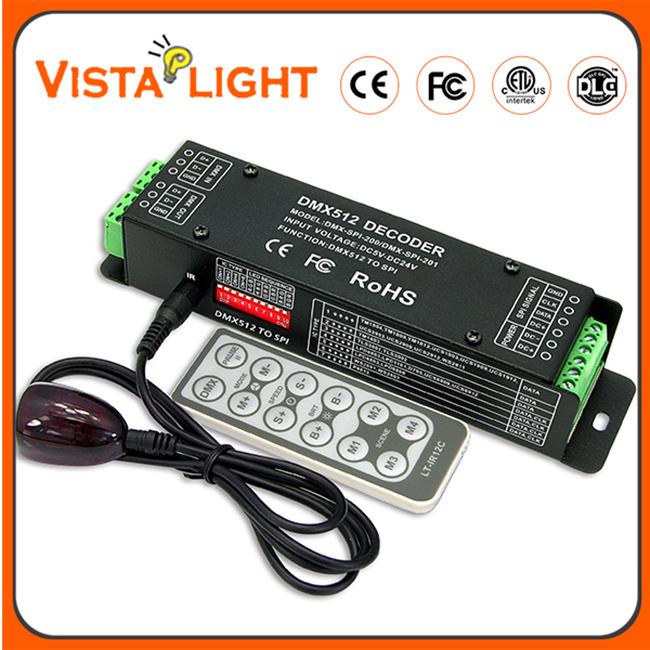 One-Way Communication DMX512 Input Signal RGB LED Controller Decoder