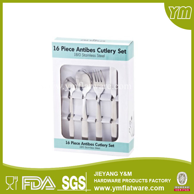 Hot Sale Stainless Steel Cutlery Set with Color Box