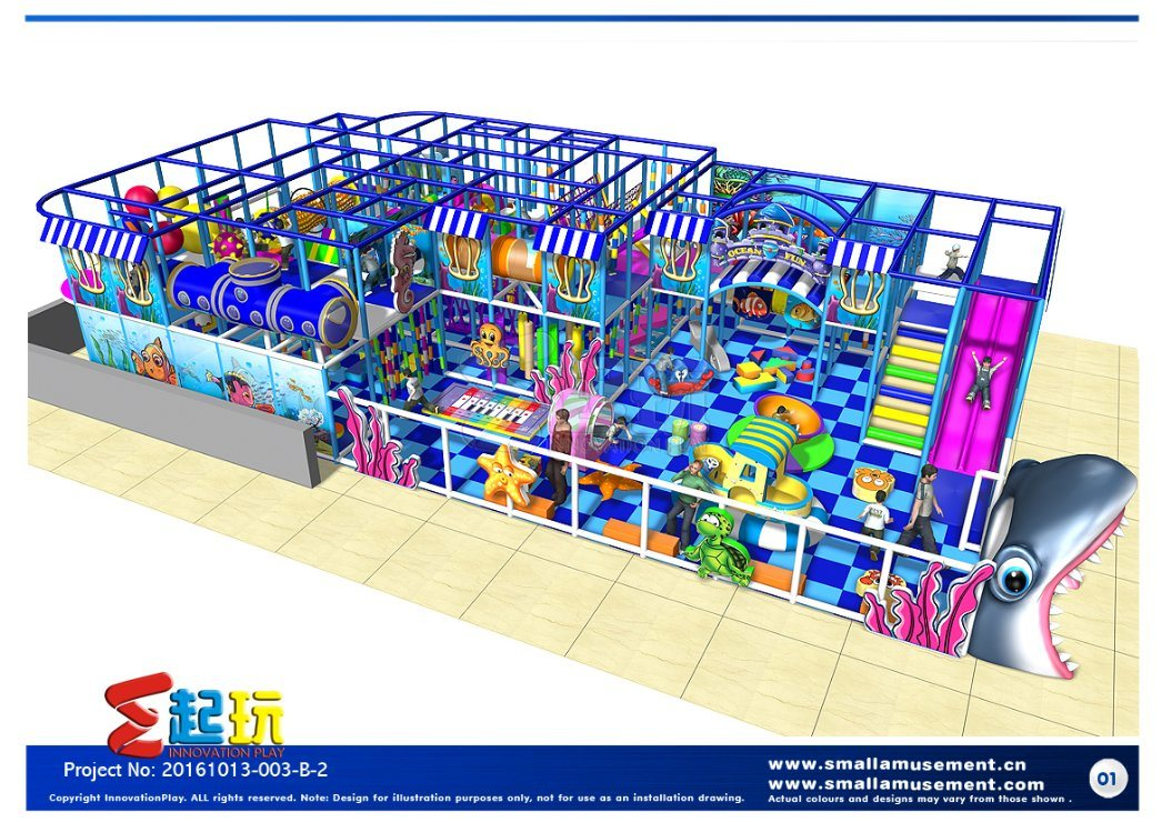 Attractive Indoor Playground with Free Design