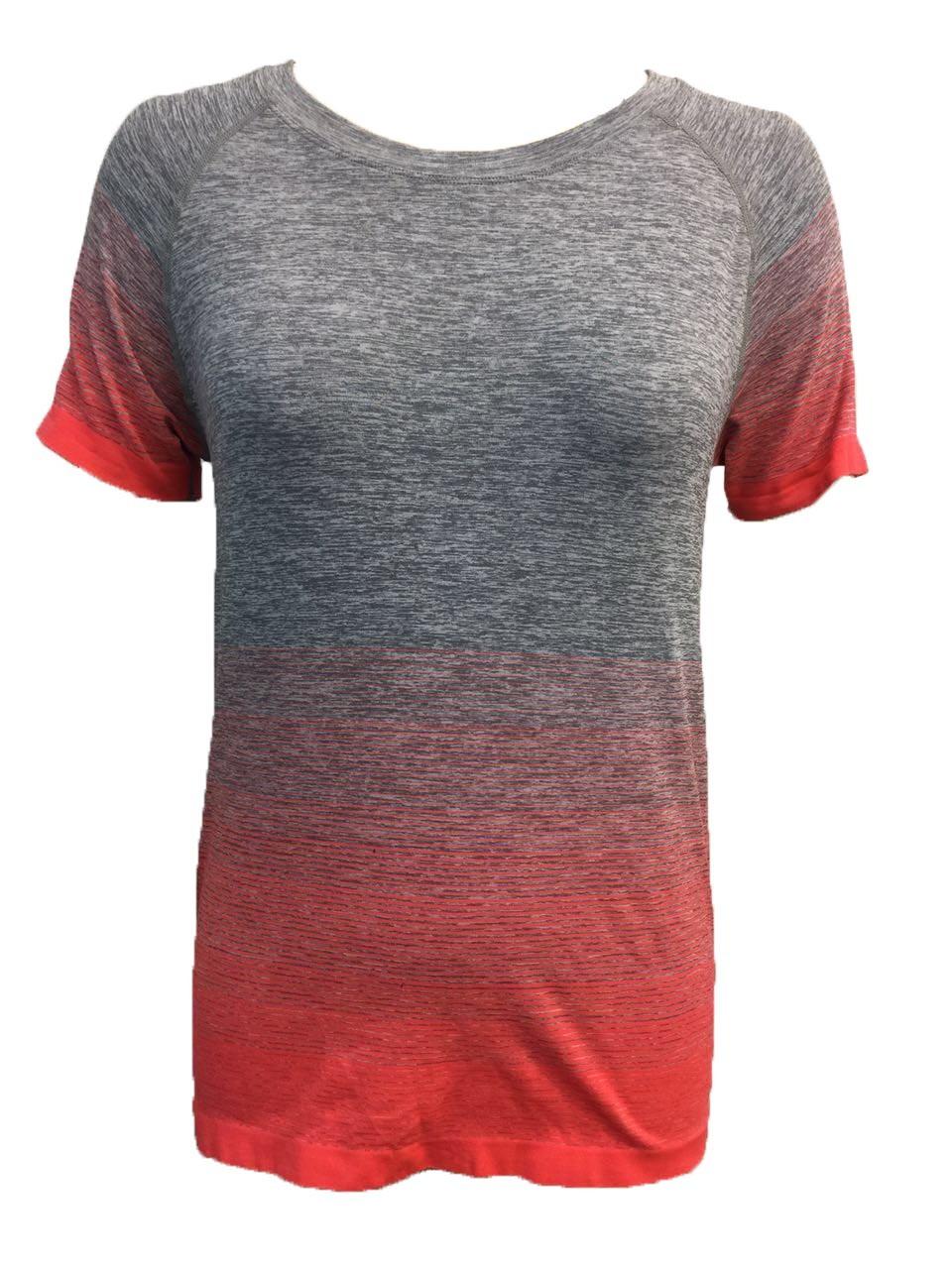 Women′s Short Sleeve Seamless Shirt