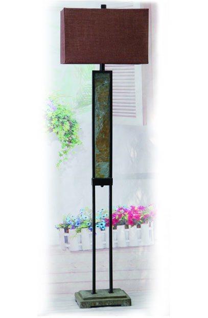 Slate & Metal Floor Lamp for Indoor and Outdoor