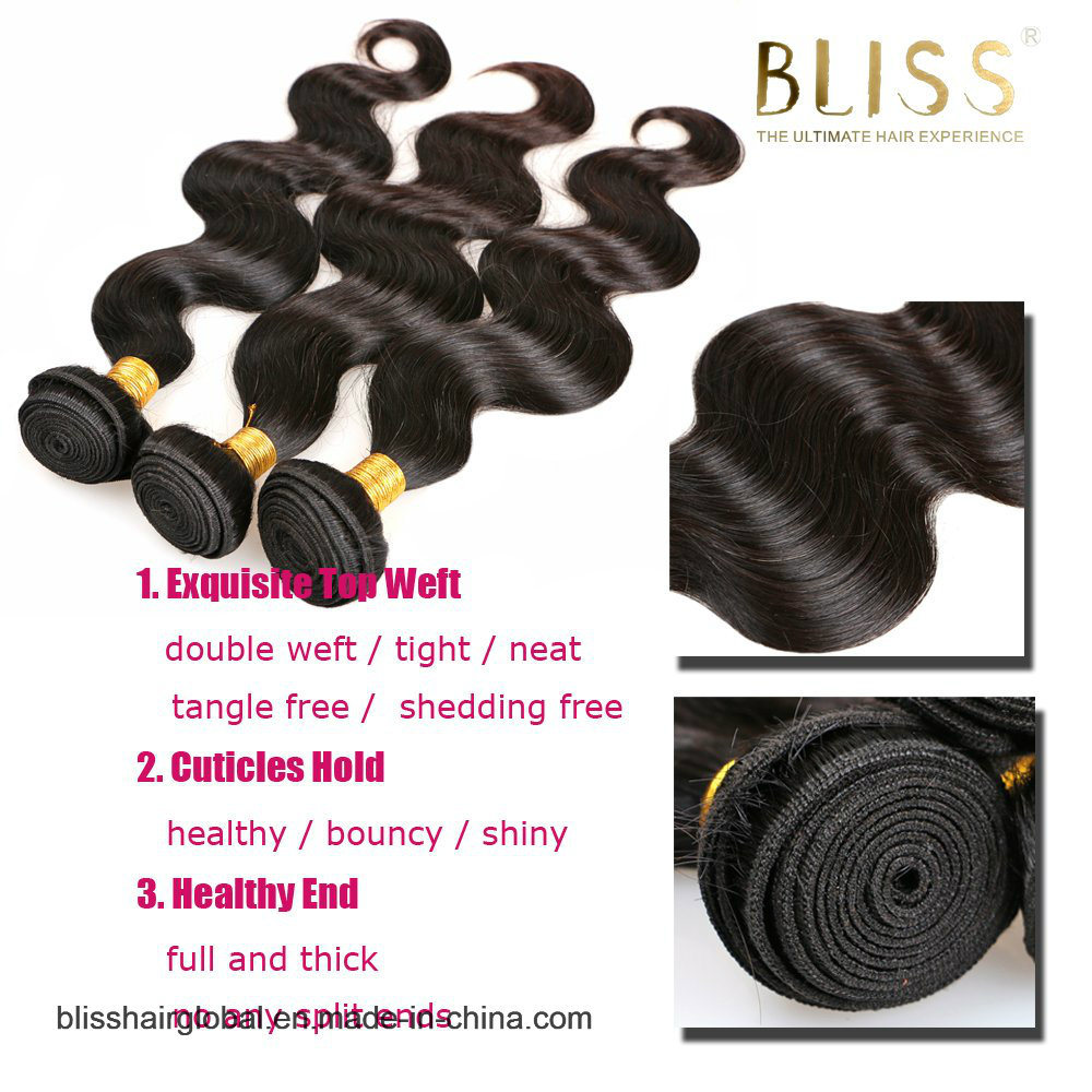 """Bliss Malaysian Hair Body Wave 12""""-24"""" 9A High Quality One Donor Raw Virgin Unprocessed Human Hair"""