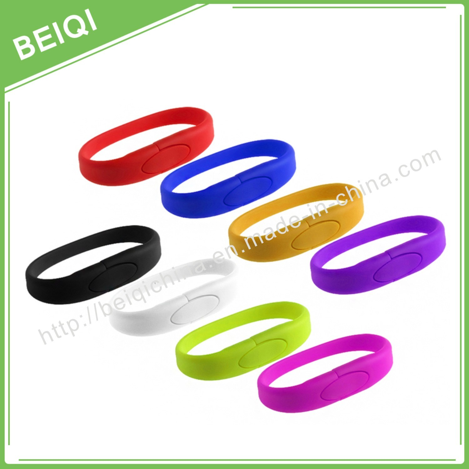 Customized Design Colorful Silicone Wristband USB