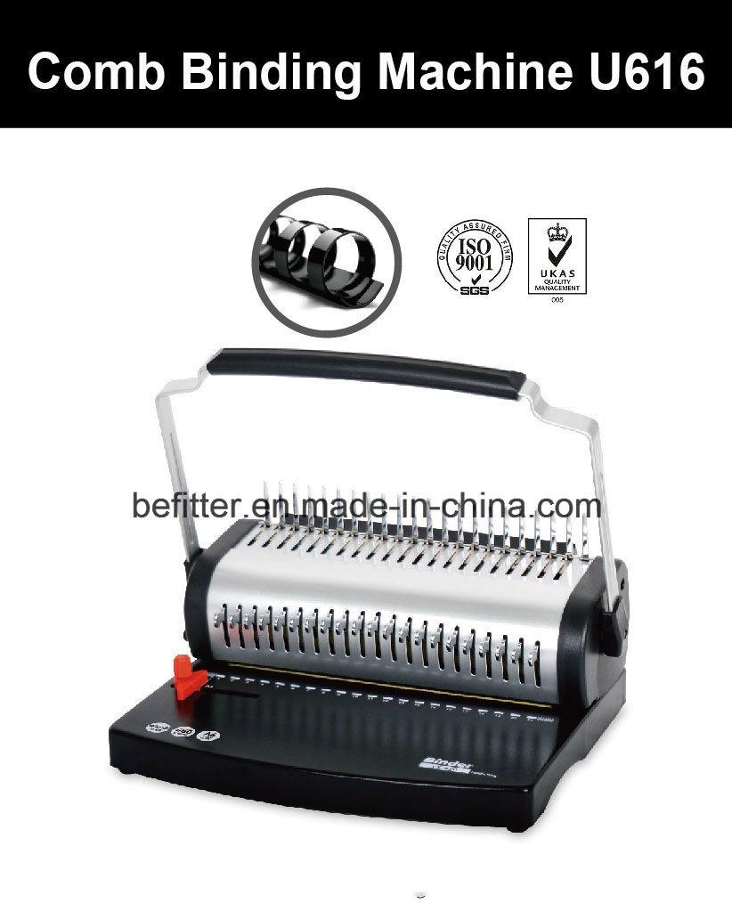 U616 U Handle A4 Size Plastic Comb Binding Machine