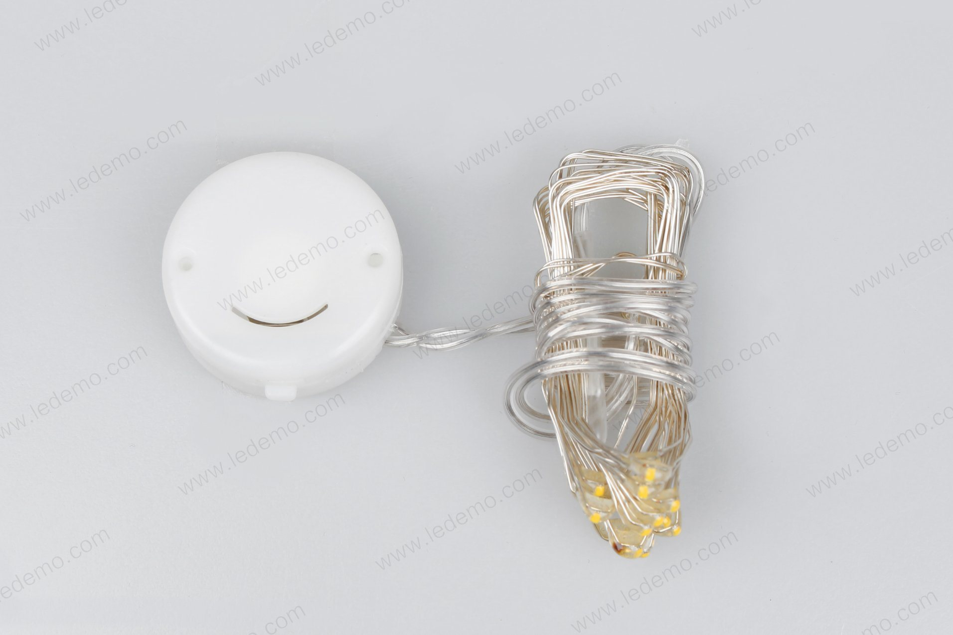 LED Button Cell Copper Battery Operated Light