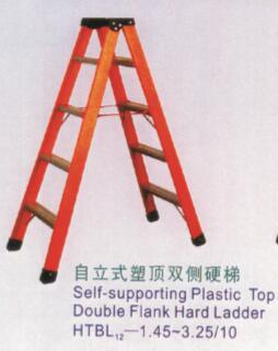 Self-Supporting Plastic Top Double Flank Hard Ladder