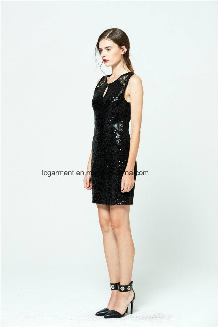 Most Popular Lady Girls Fashion Sleeveless Adult Party Dress